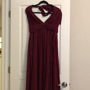 Lulu's burgundy bridesmaid dress